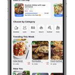 Food app UI example image - 1