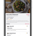 Food app UI example image - 3